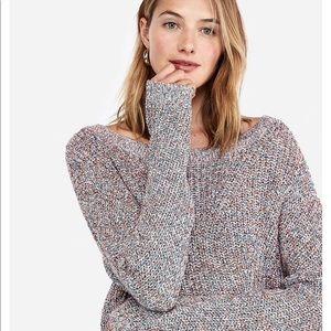 🐨 NWT! Express Cable Knit Split Back Sweater